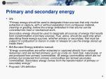 primary and secondary energy