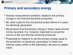 primary and secondary energy7