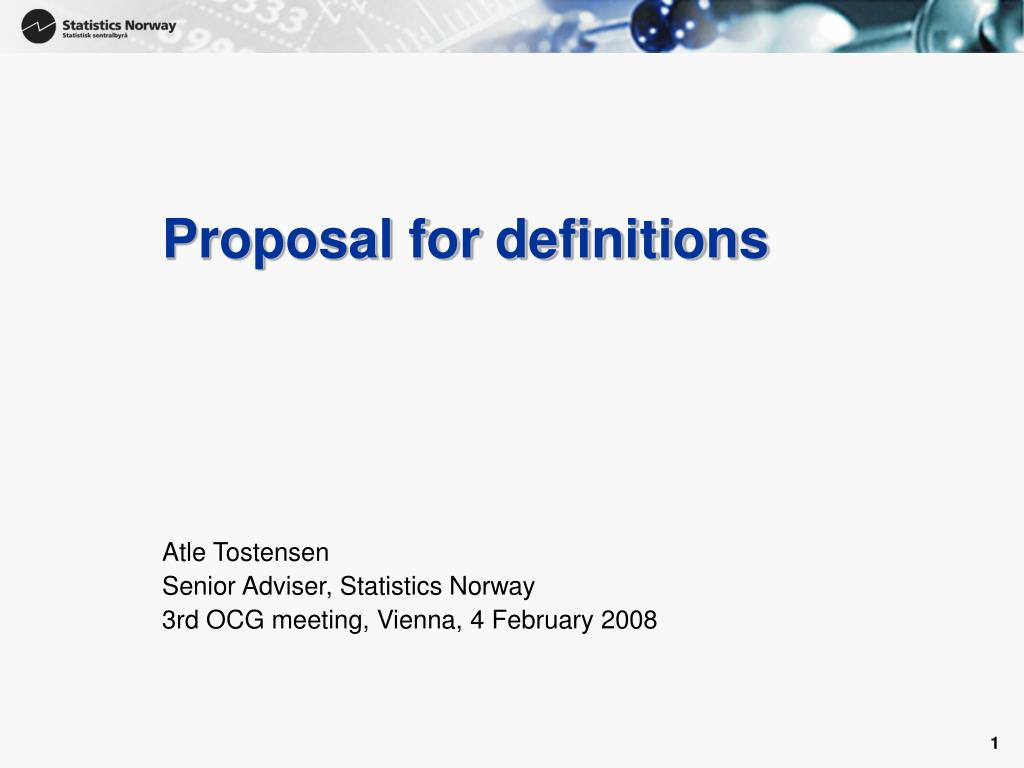 proposal for definitions l.