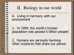 ii biology in our world