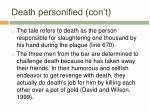 death personified con t