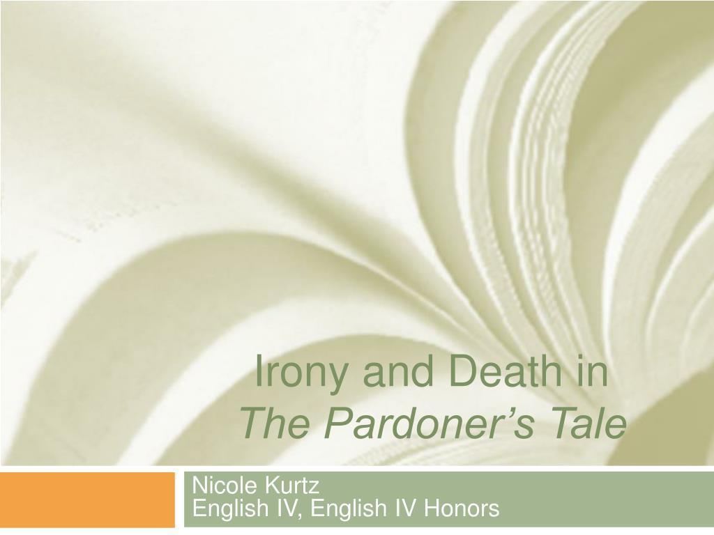 irony and death in the pardoner s tale l.