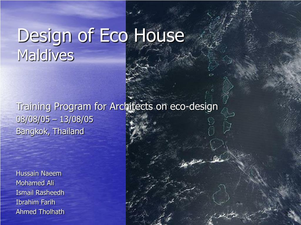 design of eco house maldives l.