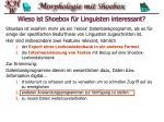 wieso ist shoebox f r linguisten interessant