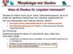 wieso ist shoebox f r linguisten interessant16