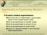 approaches to segmenting markets continued2