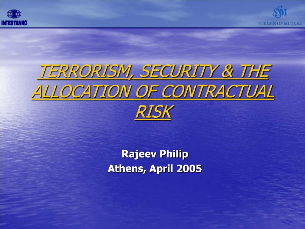 terrorism security the allocation of contractual risk l.