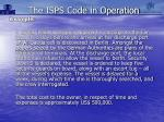 the isps code in operation6