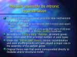 modular assembly by intronic recombination