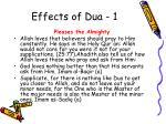 effects of dua 1
