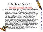 effects of dua 3