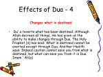 effects of dua 4
