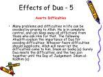 effects of dua 5