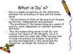 what is du a