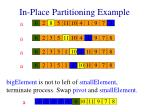 in place partitioning example