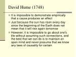 david hume 1748