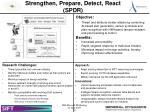 strengthen prepare detect react spdr