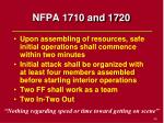 nfpa 1710 and 1720