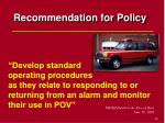 recommendation for policy49