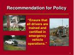recommendation for policy51
