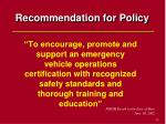 recommendation for policy53