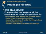 privileges for doa9