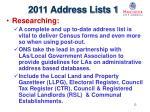 2011 address lists 1