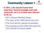 community liaison 1