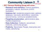 community liaison 2