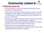 community liaison 6
