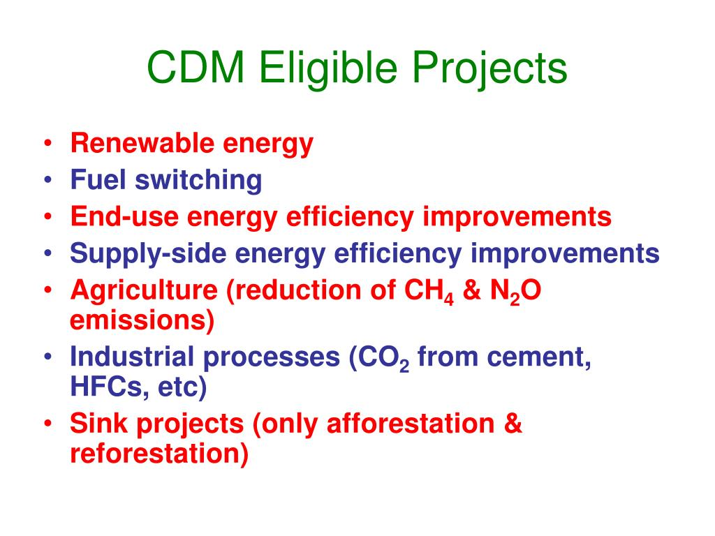 CDM Eligible Projects