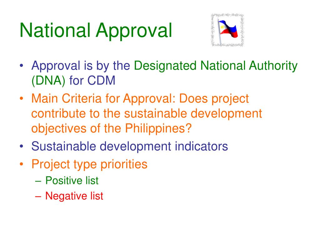 National Approval