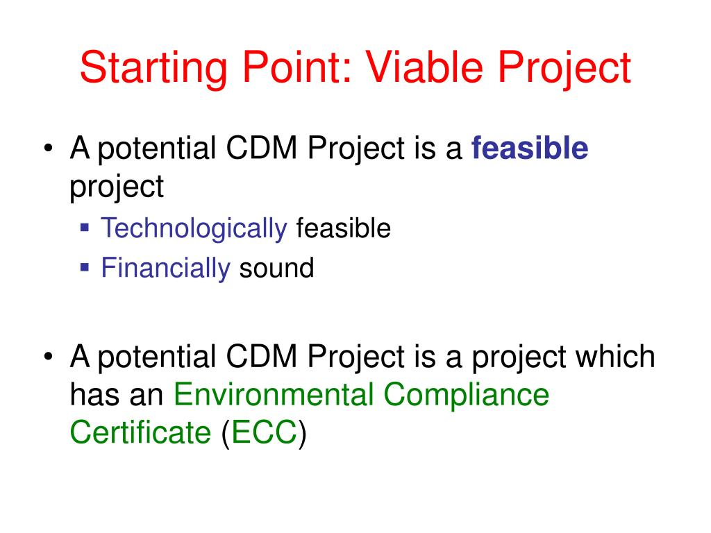 Starting Point: Viable Project