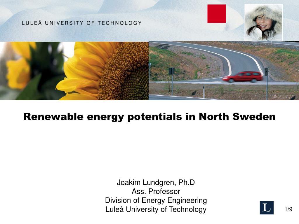 renewable energy potentials in north sweden l.