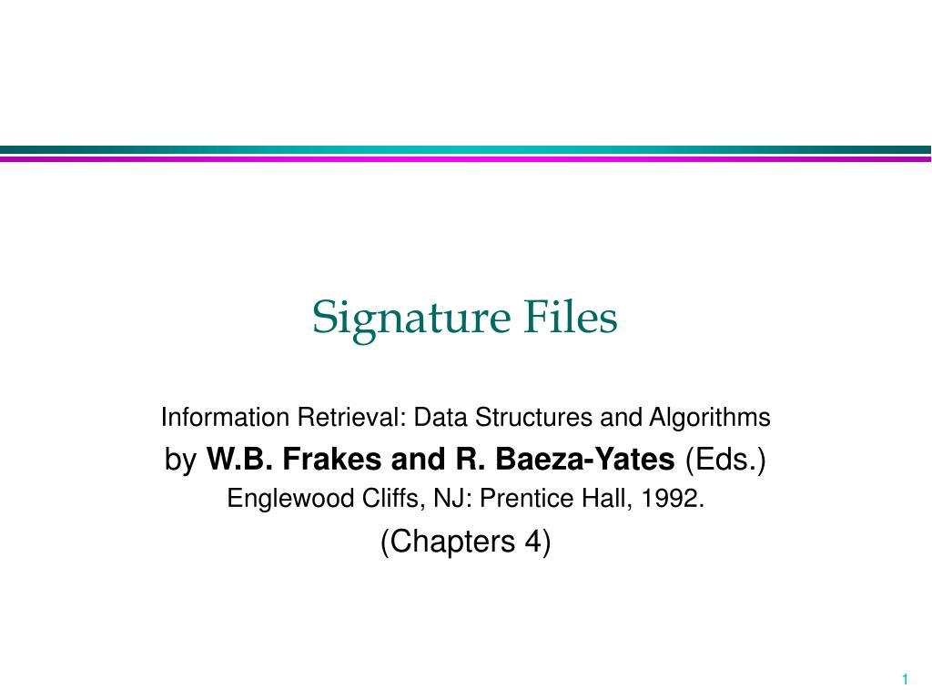 signature files l.
