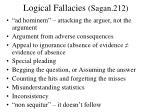 logical fallacies sagan 212