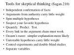 tools for skeptical thinking sagan 210