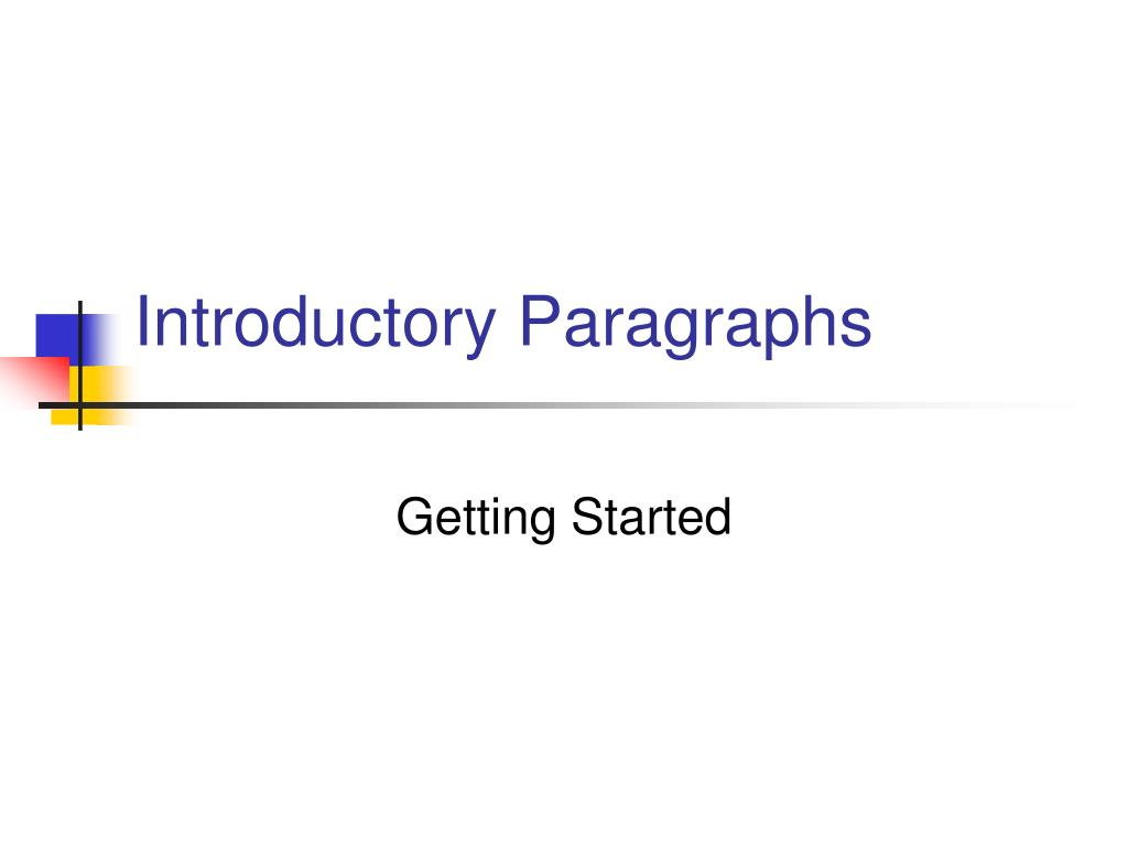 introductory paragraphs l.