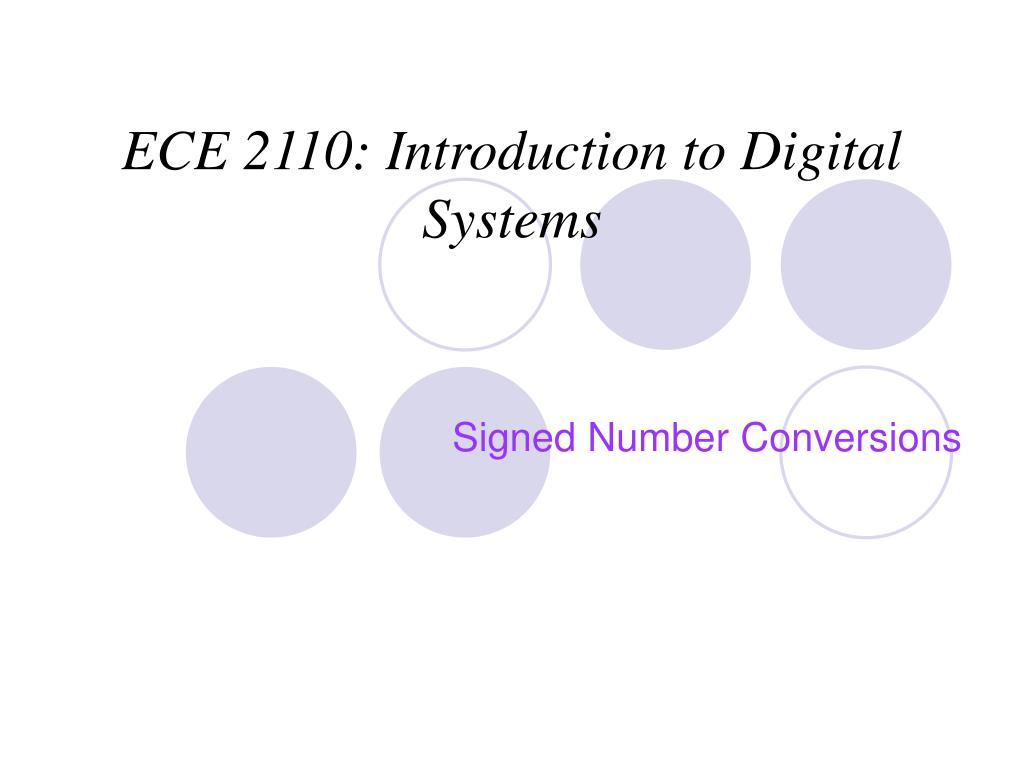 ece 2110 introduction to digital systems l.