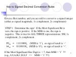 hex to signed decimal conversion rules