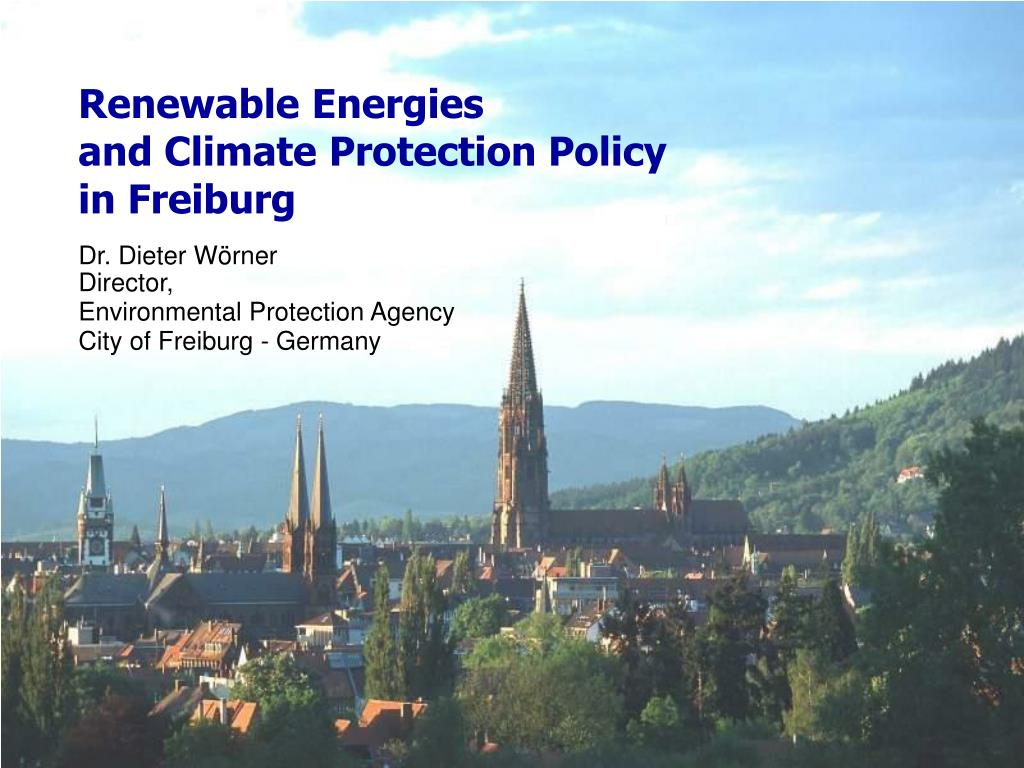renewable energies and climate protection policy in freiburg l.