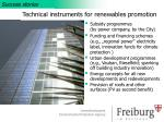 technical instruments for renewables promotion