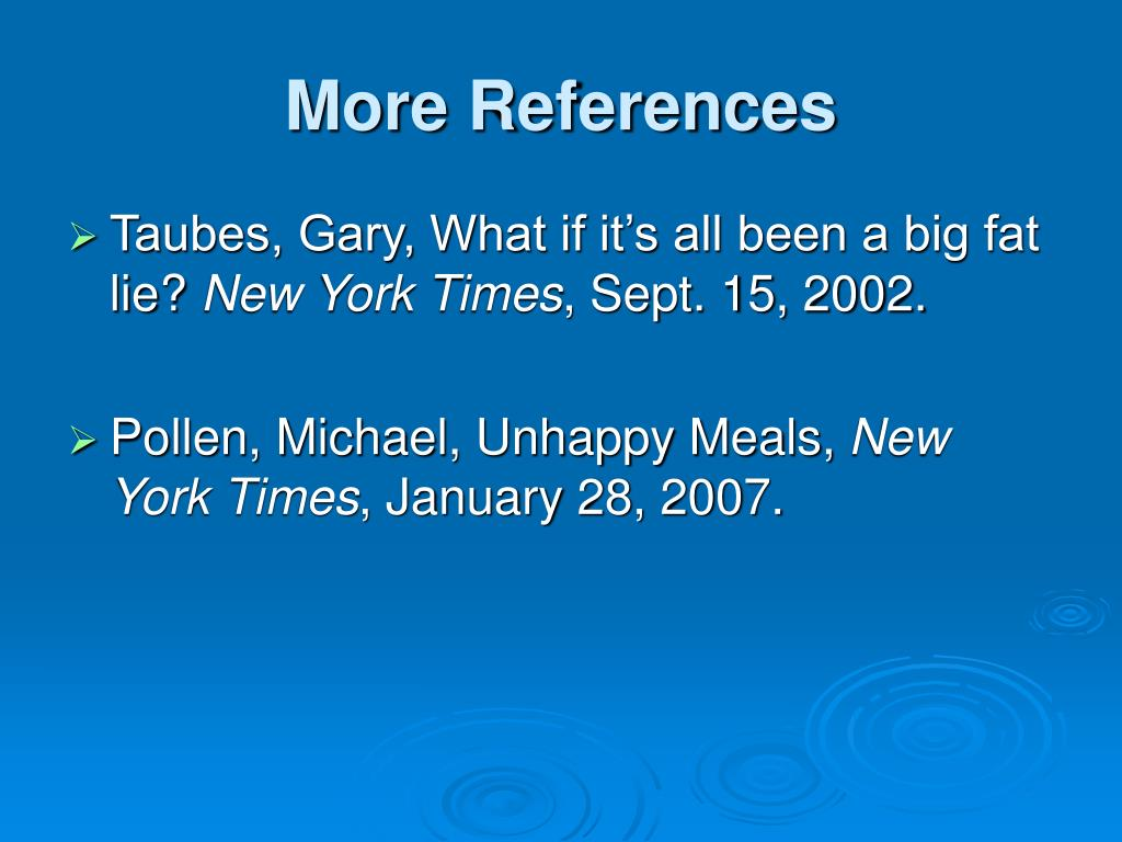 More References