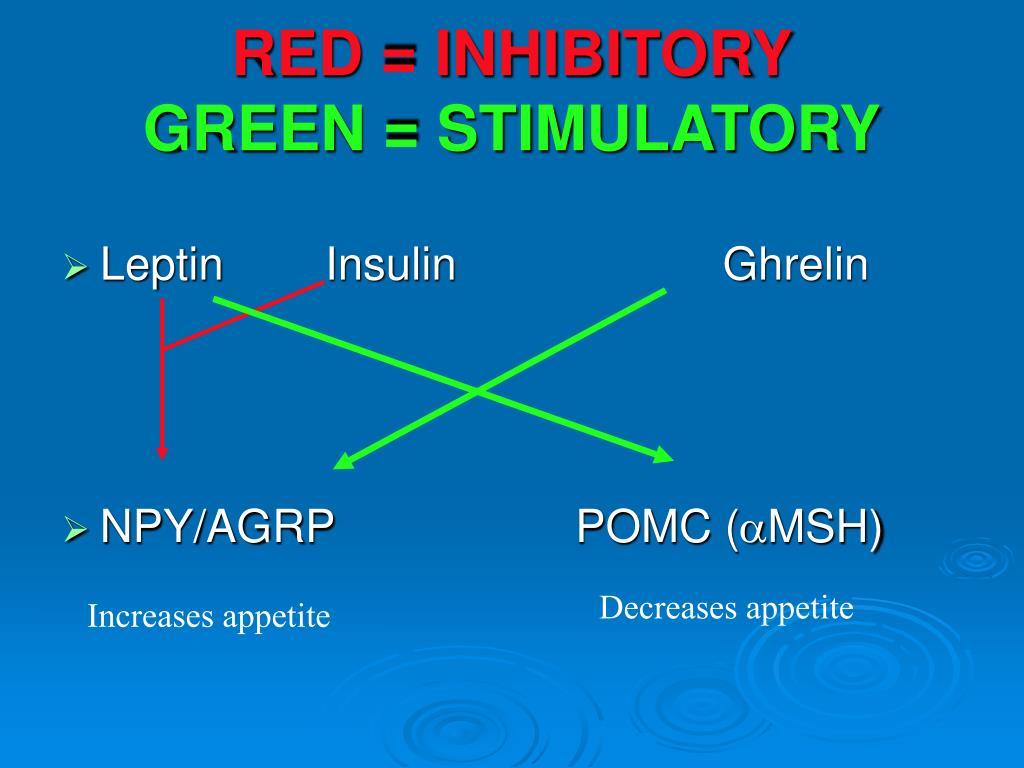 RED = INHIBITORY