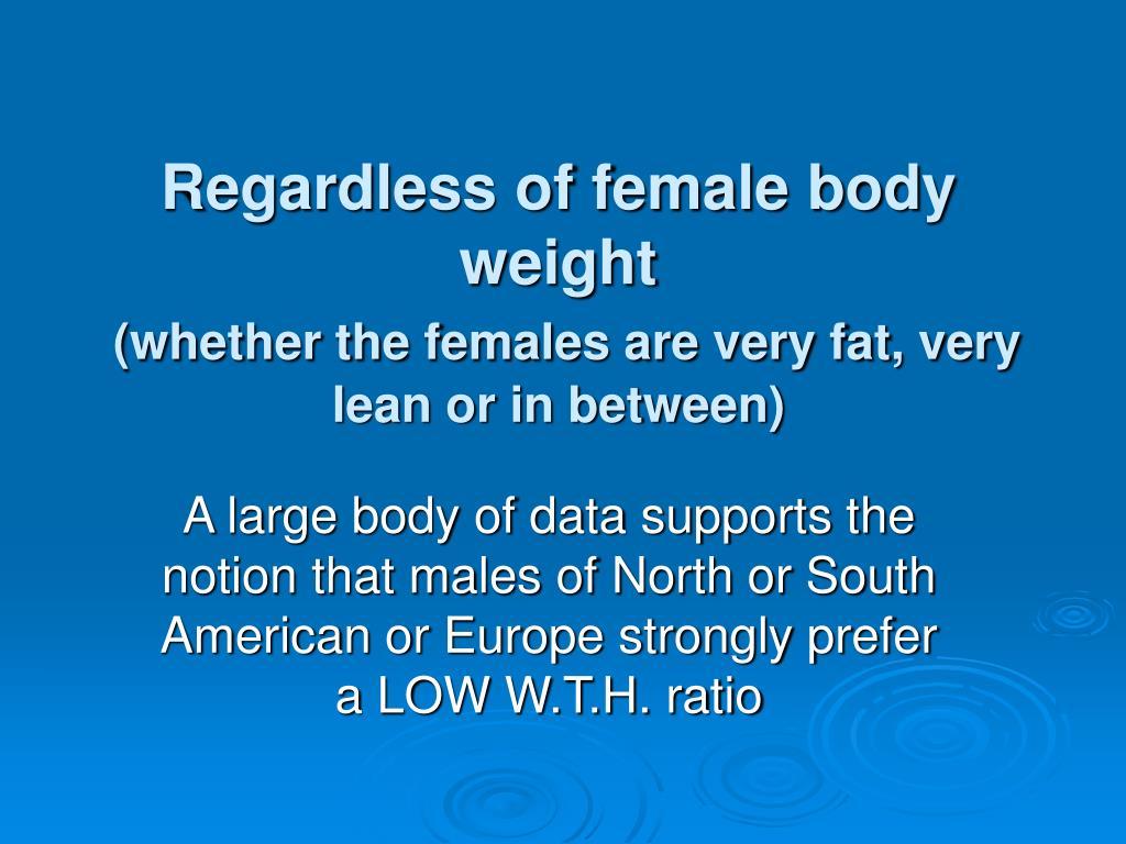 Regardless of female body weight