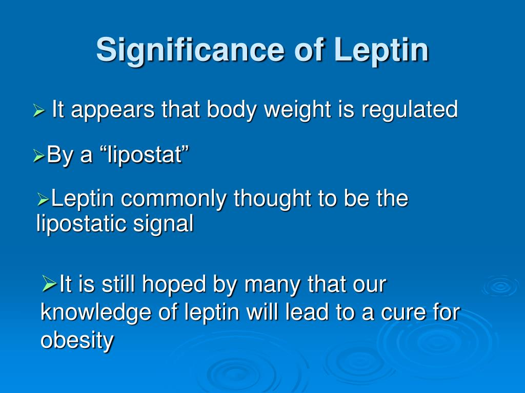 Significance of Leptin