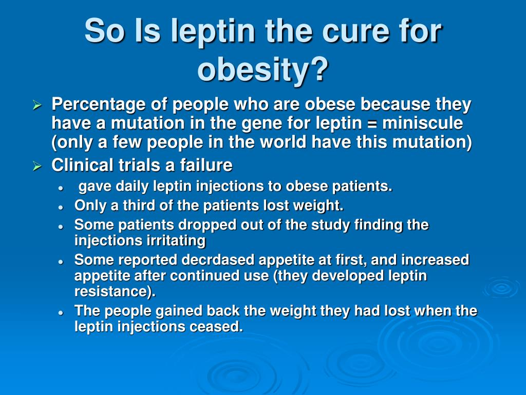 So Is leptin the cure for obesity?