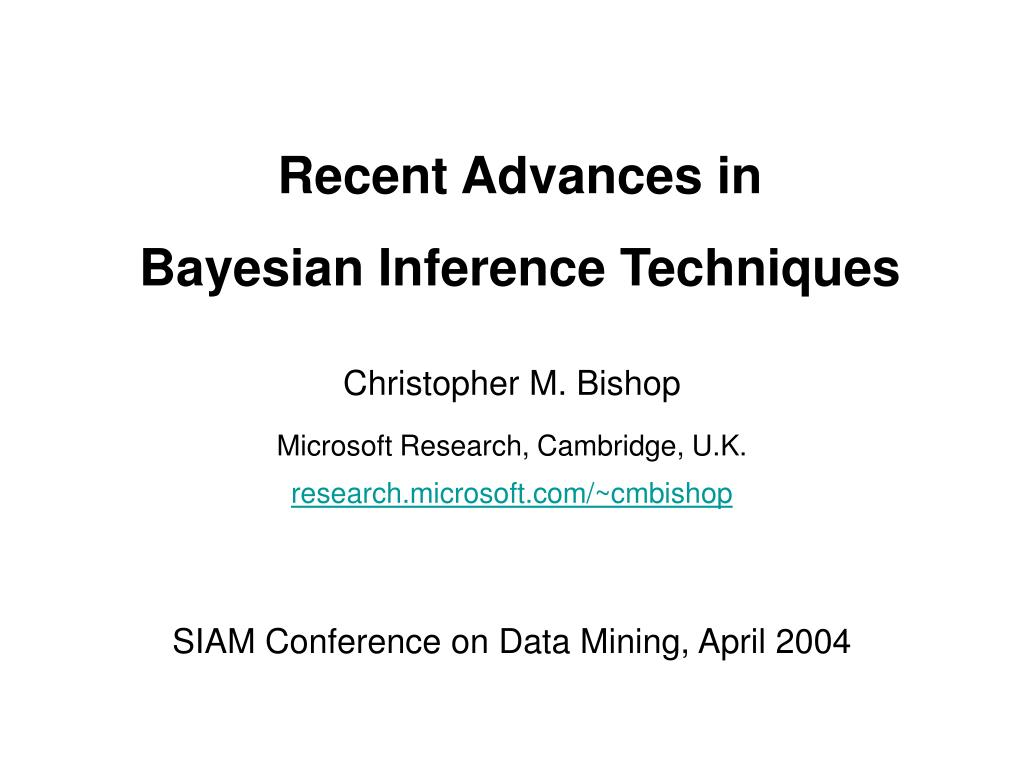recent advances in bayesian inference techniques l.