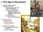 i the age of revolution