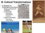 iii cultural transformations